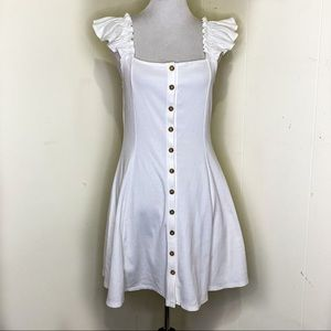 Forever 21 Plus Button Down Ruffle Sleeve Dress 0x